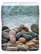 ocean stones Duvet Cover by Stylianos Kleanthous