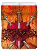 3 Of Swords Duvet Cover by Tammy Wetzel