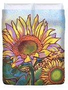 3 Sunflowers Duvet Cover by Nadi Spencer