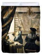 The Artist's Studio Duvet Cover by Jan Vermeer