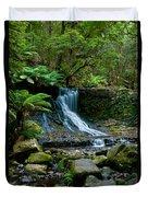 Waterfall In Deep Forest Duvet Cover by Ulrich Schade