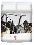 Camp Speicher, Iraq - U.s. Air Force Duvet Cover by Terry Moore