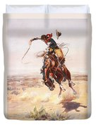 A Bad Hoss Duvet Cover by Charles Russell
