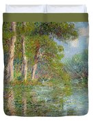 A Bend In The Eure Duvet Cover by Gustave Loiseau