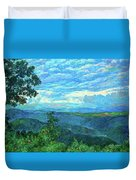 A Break In The Clouds Duvet Cover by Kendall Kessler