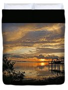 A Brooding Sunset Sky Duvet Cover by HH Photography of Florida