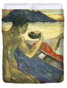 A Canoe Duvet Cover by Paul Gauguin