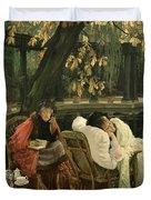 A Convalescent Duvet Cover by James Jacques Joseph Tissot