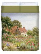 A Cottage Garden Duvet Cover by Henry Sutton Palmer