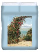 A Garden By The Sea  Duvet Cover by Frank Topham