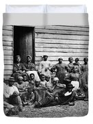 A Group Of Slaves Duvet Cover by Photo Researchers