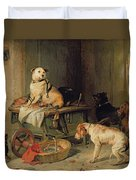 A Jack In Office Duvet Cover by Sir Edwin Landseer
