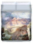 A Miracle Of Nature Duvet Cover by Thomas Moran