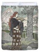 A Musician Duvet Cover by Eugene Grasset