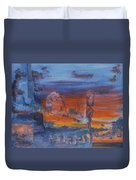 A Mystery Of Gods Duvet Cover by Steve Karol
