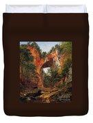 A Natural Bridge In Virginia Duvet Cover by David Johnson