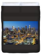 A Night In L A Duvet Cover by Kelley King
