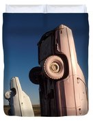 A Pink Caddilac in the Morning Duvet Cover by Jerry McElroy