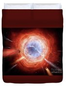 A Planetary Nebula Is Forming Duvet Cover by Brian Christensen