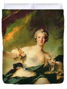 A Portrait Of Anne Josephe Bonnnier De La Mossau  Duvet Cover by Jean Marc Nattier