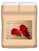 A Romantic Note Duvet Cover by Kathy Bucari
