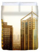 A Shanghai Sunset Duvet Cover by Christine Till