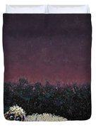 A sheep in the dark Duvet Cover by James W Johnson