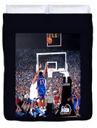 A Shot To Remember - 2008 National Champions Duvet Cover by Tom Roderick