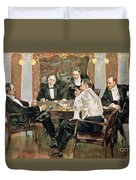A Showdown Duvet Cover by Albert Beck Wenzell