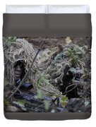 A Sniper Team Spotter And Shooter Duvet Cover by Stocktrek Images