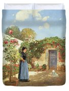 A Sunny Morning Duvet Cover by Childe Hassam
