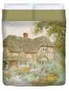 A Surrey Cottage Duvet Cover by Arthur Claude Strachan
