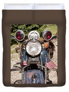 A Very Old Indian Harley-davidson Duvet Cover by James BO  Insogna