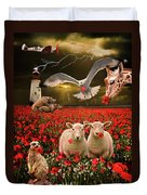 A Very Strange Dream Duvet Cover by Meirion Matthias