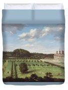 A View Of Bayhall - Pembury Duvet Cover by Jan Siberechts