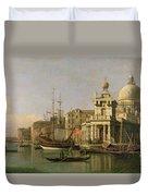A View Of The Dogana And Santa Maria Della Salute Duvet Cover by Antonio Canaletto
