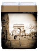 A Walk Through Paris 3 Duvet Cover by Mike McGlothlen