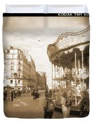 A Walk Through Paris 4 Duvet Cover by Mike McGlothlen