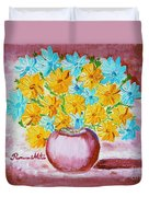 A Whole Bunch Of Daisies Duvet Cover by Ramona Matei