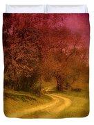 A Winding Road - Bayonet Farm Duvet Cover by Angie Tirado-McKenzie