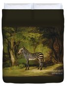 A Zebra Duvet Cover by George Stubbs