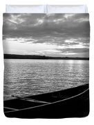 Abandoned Canoe Floating On Water Duvet Cover by Keith Levit