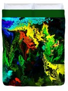 Abstract 2-23-09 Duvet Cover by David Lane