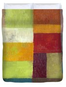 Abstract Color Study lV Duvet Cover by Michelle Calkins