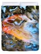 Abstract Fish Art - Fairy Tail Duvet Cover by Sharon Cummings