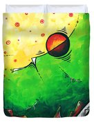 Abstract Pop Art Original Painting Duvet Cover by Megan Duncanson