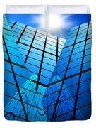 abstract skyscrapers Duvet Cover by Setsiri Silapasuwanchai