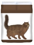Abyssinian Cat Duvet Cover by Corey Ford
