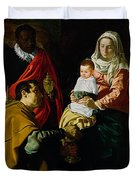 Adoration Of The Kings Duvet Cover by Diego rodriguez de silva y Velazquez