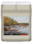 Aeronca Super Chief 0290 Duvet Cover by Marilyn  McNish